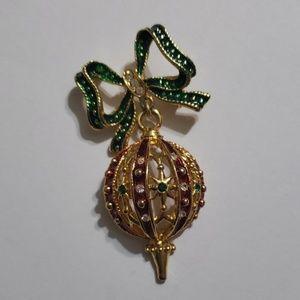 Holiday ornament brooch